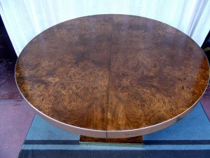 Pierre Cardin Table - Top View without Leaf Insert