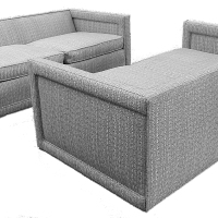 Harvey Probber Sofa Loveseat Pair